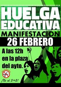 Manifa Huelga Educativa 26-F