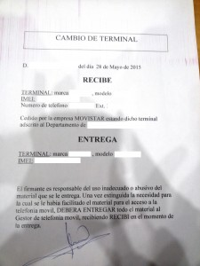 Documento cambio Móviles municipales