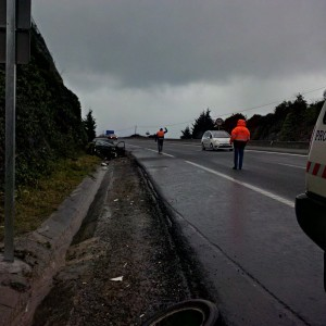 Accidente A-8 Depuradora (2)