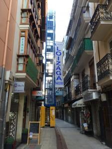Andamio en calle La Mar