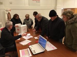 Escrutinio Consulta Pacto PSOE-C´s en Castro