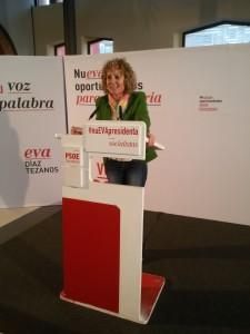 Eva Díaz Tezanos mitin PSOE