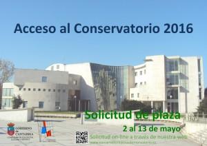 Solicitud Plaza Conservatorio Santander