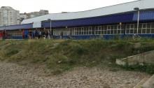 Polideportivo Peru Zaballa desde playa