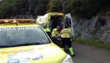 Rescate persona caida por terraplen Oriñon (1)