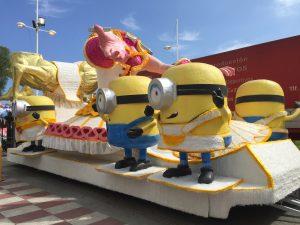 Montaje carrozas Parque víspera Coso (1)