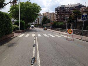 Obra carril bici Pº Ocharan con Avda Playa (3)