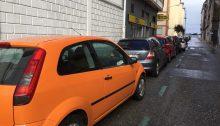 Coches aparcados en OCA