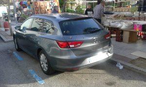 Coches mal aparcados en Jueveros (3)
