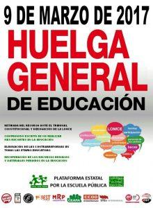 Huelga Gral Educación 9 Marzo