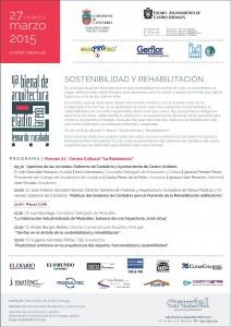 Cartel Bienal de Arquitectura 2015