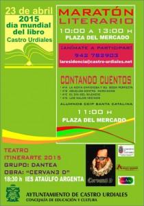 Maratón Literario Día del Libre. Cartel.
