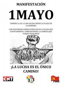 Cartel Manifestación 1 de Mayo