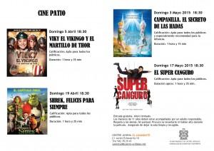 Cine Patio. Programación Abril 15