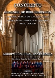 Coral Sta Maria. Cartel Concierto Domingo Resurreccion