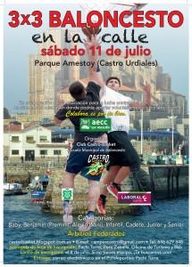 3x3 Baloncesto Verano 2015. Cartel