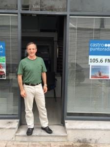 Jorge Rebanal bici Santiago a Roma
