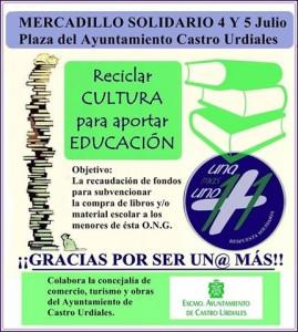 Mercadillo Solidario Una+Uno julio