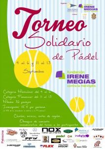 Torneo Solidario de Pádel. Cartel