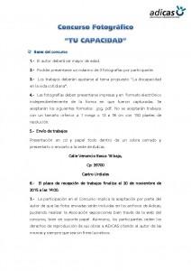 Concurso Fotográfico Discapacidad Adicas. Bases (1)