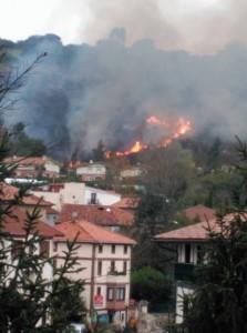 Incendio vegetación Mioño