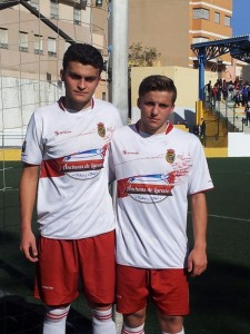 Roberto Olavarrieta y Nahuel Cardozo (Castro FC) Selecc. Cántabra