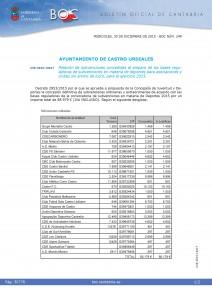 Subvenciones Ordinarias Deportes Ayto 2015