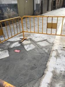 Cemento en pavimento Casco histórico