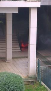 Incendio en garaje 1º de Mayo (2)