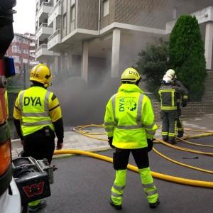 Incendio en garaje 1º de Mayo (6)