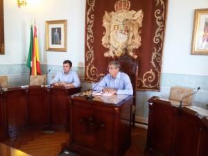 Pleno constitución Juntas. Alcalde y Secretario