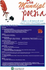 cartel dia mundial de la poesía 2016