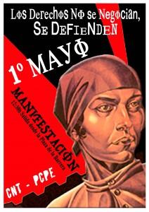 Manifestación 1 de Mayo en Castro. Cartel
