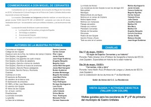 Expo Cervantes Amigos de la Pintura. Folleto (2)