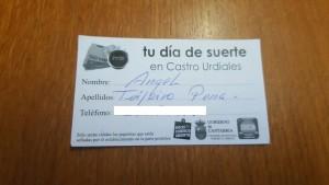 Papeleta ganador Tu Dia de Suerte ab-my 15 (sin tfno)