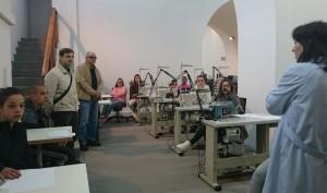 Visita a Alejandro Fdez a Taller ETC Confección