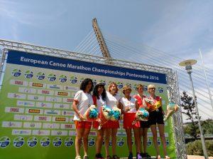 Ana González Campeona Europa Maratón K-2 Pontevedra (3)