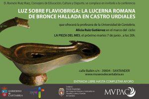 La lucerna romana de bronce de Castro Urdiales, pieza del mes de junio en el MUPAC 2 DE JUNIO DE 2016
