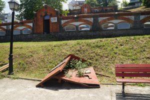 Destrozos en el Chorrillo (Señalizador Acueducto Romano)