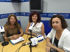 Patri con Ana Belén Lasheras y Mª Eugenia Escudero Visitas guiadas Ballena