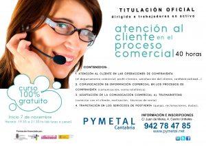 Curso Atención al Cliente en el Proceso Comercial. Cartel