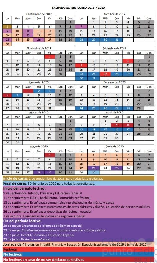 Calendario Escolar 18 19 Cantabria.Publicado En El Boletin Oficial De Cantabria El Calendario